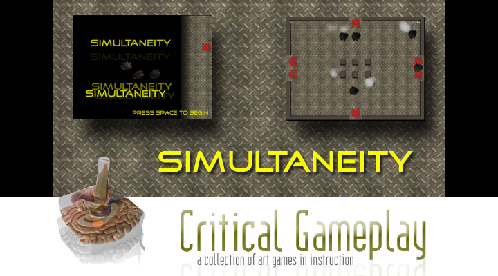 A new Critical Gameplay game has been posted. The goal is to guide as many robots to safety without damaging them. You can download the game at http://www.CriticalGameplay.com/simultaneity 